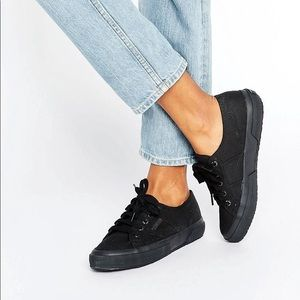 Superga Quilted Lace Black size 35 5.5